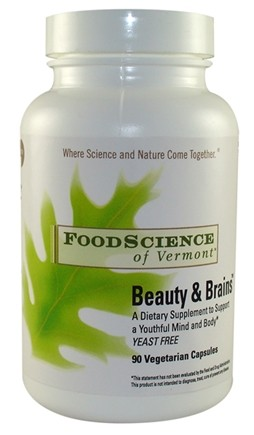 DROPPED: FoodScience of Vermont - Beauty & Brains - 90 Vegetarian Capsules