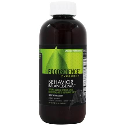 FoodScience of Vermont - Behavior Balance-DMG Liquid - 12 oz.