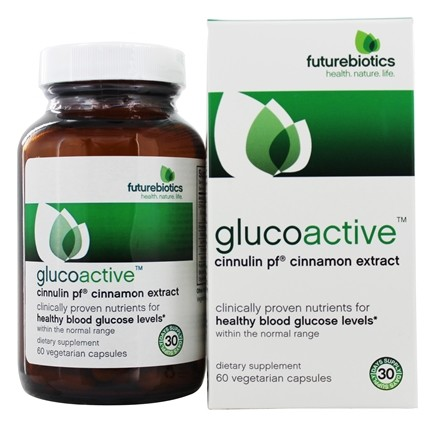 Futurebiotics - Gluco Active Cinnulin Cinnamon Extract - 60 Vegetarian Capsules