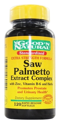 Good 'N Natural - Extra Strength Saw Palmetto Extract Complex - 120 Softgels