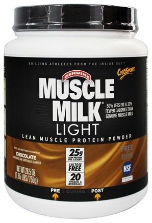 Cytosport - Muscle Milk Genuine Light Lower Calorie Lean Muscle Protein Chocolate - 26.4 oz.