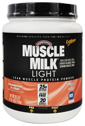 DROPPED: Cytosport - Muscle Milk Genuine Light Lower Calorie Lean Muscle Protein Strawberries 'n Creme - 26.4 oz.