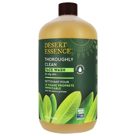 Desert Essence - Thoroughly Clean Face Wash with Tea Tree Oil and Awaphuhi - 32 oz.
