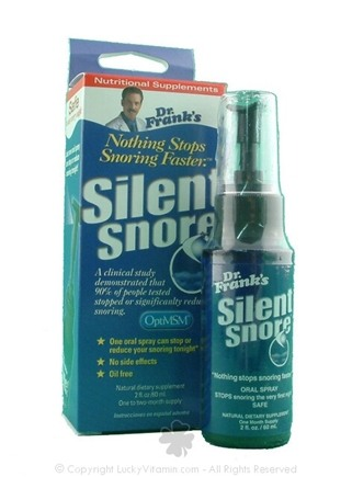 DROPPED: Dr. Franks - Silent Snore with OptimMSM Spray - 2 oz.
