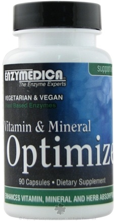 DROPPED: Enzymedica - Vitamin & Mineral Optimize Digestive Enzyme Supplement - 90 Capsules (Formerly Called Enhance)