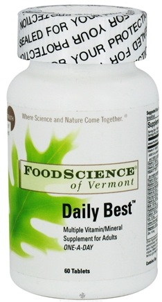 DROPPED: FoodScience of Vermont - Daily Best - 60 Tablets CLEARANCE PRICED