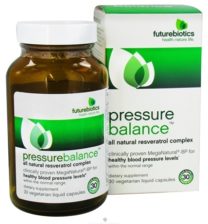 DROPPED: Futurebiotics - Pressure Balance All-Natural Resveratrol Complex - 30 Vegetarian Capsules