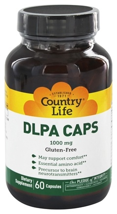 Country Life - DLPA Caps 1000 mg. - 60 Vegetarian Capsules