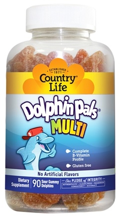 DROPPED: Country Life - Dolphin Pals Multivitamin & Mineral - 90 Sour Gummies