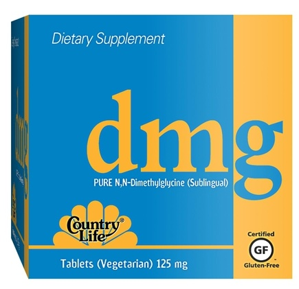 DROPPED: Country Life - DMG Pure N,N-Dimethylglycine Sublingual 125 mg. - 30 Vegetarian Tablets CLEARANCE PRICED
