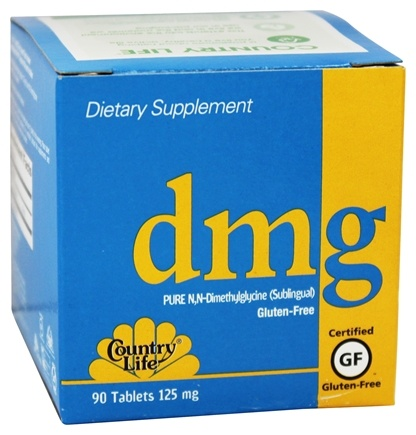 DROPPED: Country Life - DMG Pure N,N-Dimethylglycine Sublingual 125 mg. - 90 Vegetarian Tablets