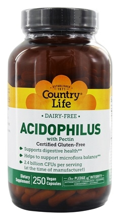 Country Life - Acidophilus Probiotic Dairy-Free - 250 Vegetarian Capsules LUCKY DEAL
