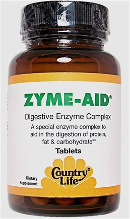 DROPPED: Country Life - Zyme-Aid - 50 Tablets