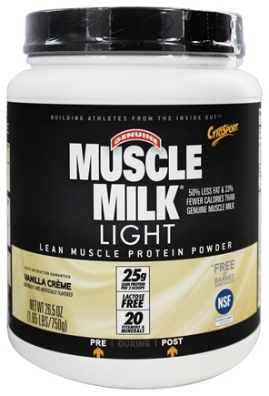 Cytosport - Muscle Milk Genuine Light Lower Calorie Lean Muscle Protein Vanilla Creme - 26.4 oz.