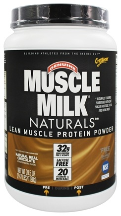 Cytosport - Muscle Milk Genuine Nature's Ultimate Lean Muscle Protein Natural Real Chocolate - 2.47 lbs.