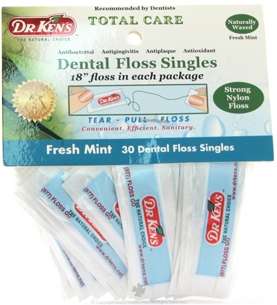 DROPPED: Dr. Ken's - Dental Floss Singles Mint - 30 Packet(s) SPECIALLY PRICED