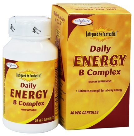 Enzymatic Therapy - Fatigued To Fantastic Daily Energy B Complex - 30 Vegetarian Capsules