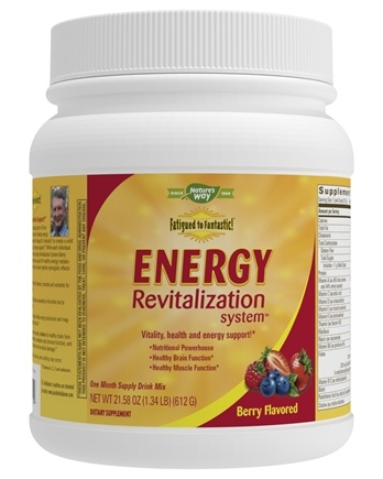 Enzymatic Therapy - Fatigued to Fantastic Energy Revitalization System Citrus Delight Berry Splash - 21.6 oz.