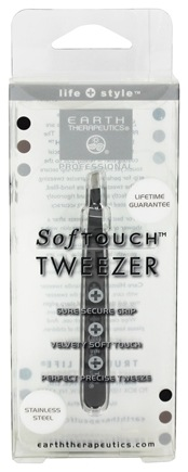 DROPPED: Earth Therapeutics - SoftTouch Tweezer Stainless Steel Black