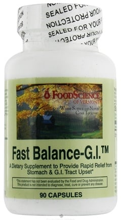 DROPPED: FoodScience of Vermont - Fast Balance-G.I. Caps - 90 Capsules CLEARANCE PRICED