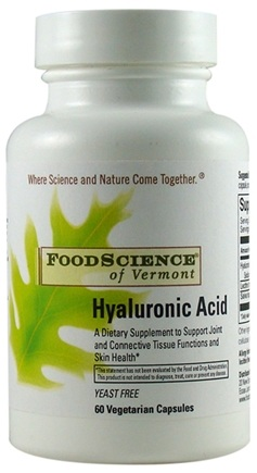 DROPPED: FoodScience of Vermont - Hyaluronic Acid - 60 Capsules