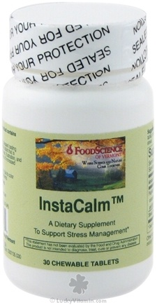 DROPPED: FoodScience of Vermont - InstaCalm CLEARANCE PRICED - 30 Chewable Tablets