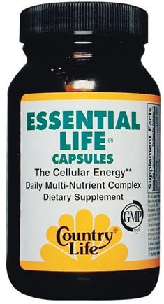 DROPPED: Country Life - Essential Life - The Cellular Energy Daily Multivitamin - 90 Tablets
