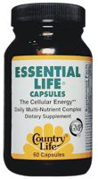 DROPPED: Country Life - Essential Life Caps The Cellular Energy Daily Multvitamin - 60 Capsules
