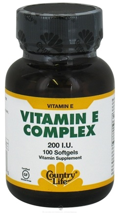 DROPPED: Country Life - Natural Vitamin E Complex With Mixed Tocopherols 200 IU - 100 Softgels