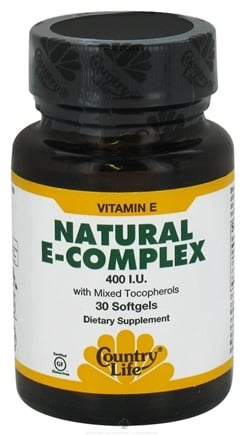 DROPPED: Country Life - Natural Vitamin E-Complex With Mixed Tocopherols 400 IU - 30 Softgels CLEARANCE PRICED