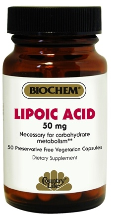 DROPPED: Biochem by Country Life - Lipoic Acid 50 mg. - 50 Vegetarian Capsules