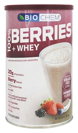 BioChem by Country Life - Berries & Whey Berry Flavor - 10.1 oz.