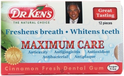 DROPPED: Dr. Ken's - Dental Gum Maximum Care Cinnamon - 12 Piece(s) CLEARANCE PRICED