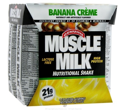 DROPPED: Cytosport - Muscle Milk RTD Nutritional Shake Banana Creme - 4 Pack(s)