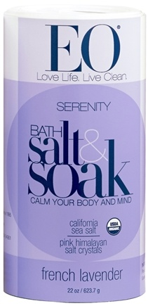 DROPPED: EO Products - Bath Salts Serenity French Lavender - 22 oz. CLEARANCE PRICED