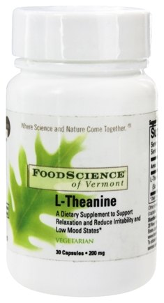 DROPPED: FoodScience of Vermont - L-Theanine 200 mg. - 30 Vegetarian Capsules