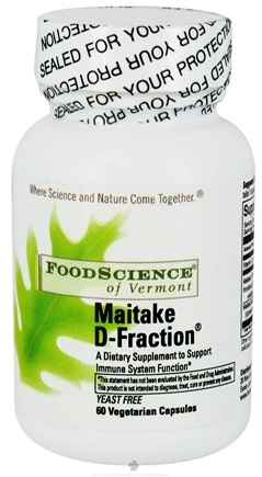 DROPPED: FoodScience of Vermont - Maitake D-Fraction - 60 Capsules CLEARANCE PRICED