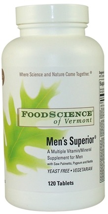 DROPPED: FoodScience of Vermont - Men's Superior - 120 Tablets