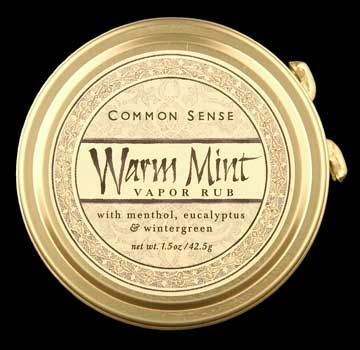DROPPED: Common Sense Farm - Warm Mint Vapor Rub - 1.5 oz.