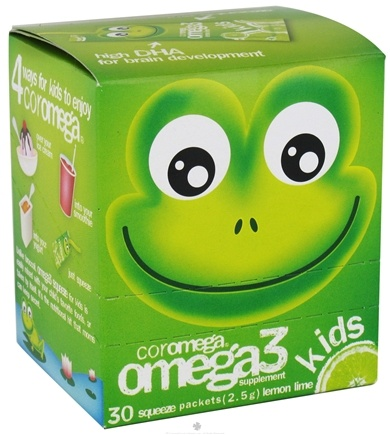 DROPPED: Coromega - Kids Omega 3 Squeeze Lemon Lime - 30 Packet(s)