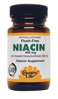 DROPPED: Country Life - Flush-Free Niacin 400 mg. - 90 Vegetarian Capsules