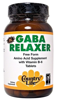 DROPPED: Country Life - GABA Relaxer Free Form Amino Acid Supplement with Vitamin B-6 Rapid Release - 30 Tablets CLEARANCE PRICED