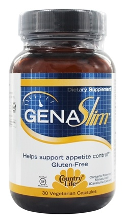 Country Life - GenaSlim Appetite Suppressant - 30 Vegetarian Capsules