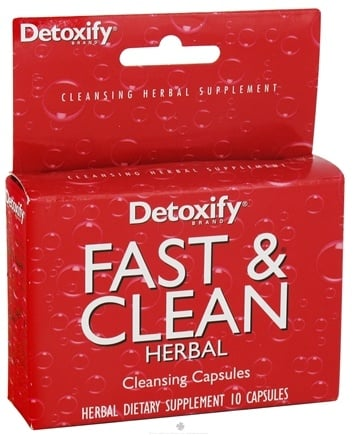 DROPPED: Detoxify Brand - Fast & Clean Herbal - 10 Capsules