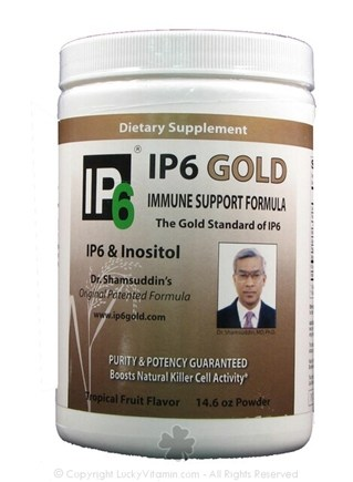 DROPPED: IP-6 International, Inc. - Dr. Shamsuddin's Original IP6 Gold Immune Support with IP6 & Inositol Tropical Fruit Flavor - 14.6 oz. formerly IP-6 & Inositol Immune Support Formula CLEARANCE PRI