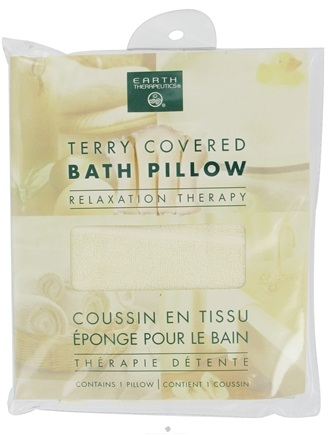 DROPPED: Earth Therapeutics - Terry-Covered Bath Pillow Natural - CLEARANCE PRICED