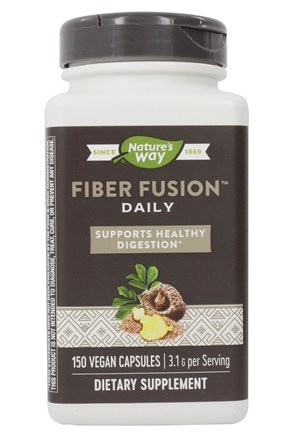 Enzymatic Therapy - Fiber Fusion Daily Cleansing Fiber - 120 Vegetarian Capsules