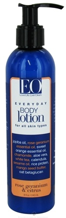 DROPPED: EO Products - Body Lotion Rose Geranium & Citrus - 8 oz.