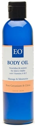 DROPPED: EO Products - Body Oil Rose Geranium & Citrus - 8 oz.