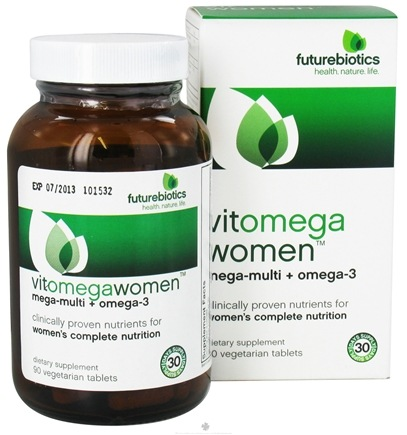 DROPPED: Futurebiotics - VitOmegaWomen Mega-Multi + Omega-3 - 90 Vegetarian Tablets